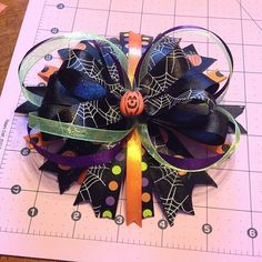 Halloween Hair Bow by BowsSewPerfect on Etsy, $8.00