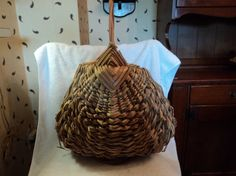 Lovely large vintage basket by WhiskeysWhims on Etsy, $30.00