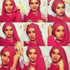 Asymmetrical Hijab Style and Tutorial