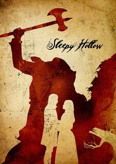 Tim Burton Sleepy Hollow Minimalist Poster by moonposter on Etsy