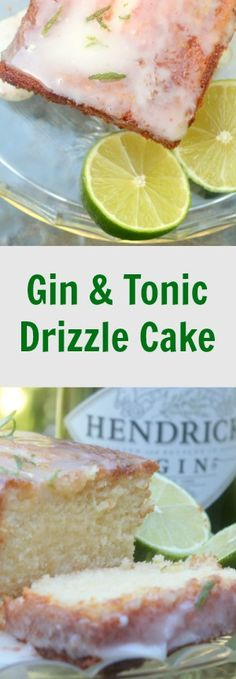 A perfect cake for gin lovers. This gin and tonic drizzle cake is light and moist and a real treat Gin Recipes, Best Dessert Recipes, Coffee Recipes, Fun Desserts, Sweet Recipes, Dessert Ideas, Recipies, Rhubarb Custard Cake Recipe, Rhubarb And Custard