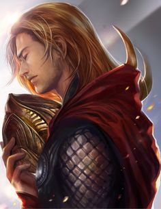 """Thor with Loki's helmet. """"Ow... right in the feels"""""""