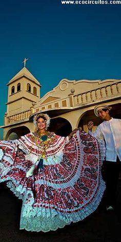 The Pollera is Panama's traditional dress. Join us for a folklore show or for one of Panama's festivals!  www.ecocircuitos.com