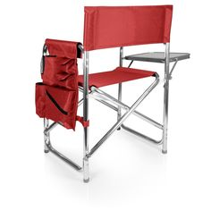 Portable Beach Chair Lightweight Extra Wide Red Sporting Goods Camping and #Oniva