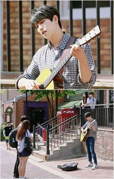 In one scene in my story, around season three, an Amnesic Emma is walking around the shops when she sees Will playing the guitar on the streets. Emma feels like she remembers the boy from somewhere and can't help but feel pulled in. Emma is feeling lost in these scenes also due to the fact she feels like Storybrooke is familiar.