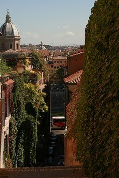 Via di Sant Onofrio, Rome by mclarenjk, via Flickr  A view not normally seen in all the Roma pins :):) a rarity!
