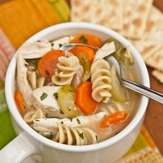 Hearty Turkey Noodle Soup. Save that turkey carcass! It's the tastiest, most delicious broth you've ever had.