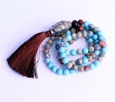 Mala Necklace Bracelet Buddha prayer beads wrap yoga by BadDog1976