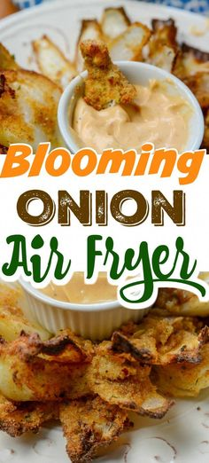 Grab your Ninja Foodi or Air Fryer and make this savory and mouthwatering Air Fryer Blooming Onion. Crunch batter that has a tender and savory onion inside. Air Fryer Recipes Snacks, Air Fryer Recipes Vegetarian, Air Fryer Recipes Low Carb, Air Frier Recipes, Air Fryer Dinner Recipes, Snack Recipes, Cooking Recipes, Cooking Tips, Food Tips
