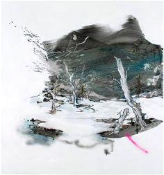 Anna Tuori: Annabel Lee. 2009, Oil on board, 140 x 130 cm