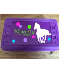 There is sill time to order your child's pencil box! Personalize their boxes to reflect their personality! Fast turnaround on orders!