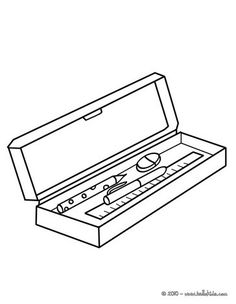 Pencil Case With Rubber Pens Pencil Ruler 01 723 3z6 Jpg
