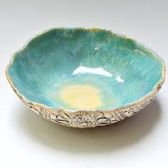 handmade ceramic bowl Ceramic Lace Bowl rustic by OneClayBead, $24.00