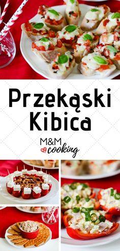 Przekąski Kibica - dobre do każdego meczu! ⋆ M&M COOKING #przekąski #domeczu #przepis na przekąski Bruschetta, Feta, Dip, Tacos, Mexican, Cooking, Ethnic Recipes, Kitchen, Salsa