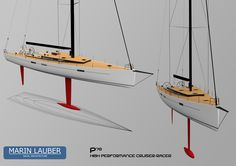Another final poster showing two views of the yacht. This one was discarded because it shows two very similar views of the yacht.