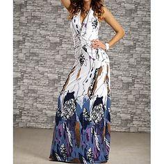 Women's Colorful Sleeveless Dress – USD $ 18.99