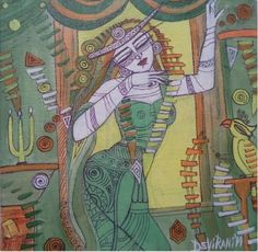 This piece of art shows subtle colors and evident sketching of a queen in a dance mudra. The painting has giving out a relaxing and rejuvenating feel. The art form enunciates the significance of dance in love and the rejuvenation it brings to oneself.  https://www.mivaarts.com/queen-1 #Art #homeDecor #wallPainting #IncrediblePiece #NoEmptyWalls #MivaArts