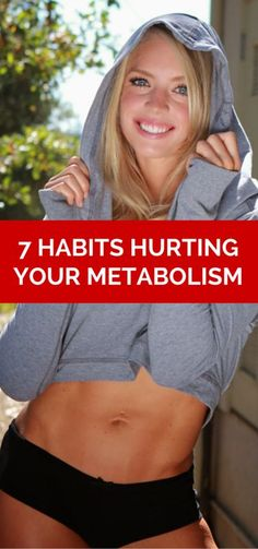 """Women's Health, Fitness, Diet and Weight Lose: 7 """"Healthy"""" Habits Hurting Your Metabolism Healthy Habits, Get Healthy, Healthy Tips, 7 Habits, Health And Nutrition, Health And Wellness, Health Fitness, Workout Fitness, Women's Health"""