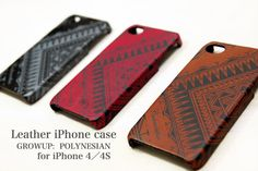 iphone 4s case leather : Polynesian