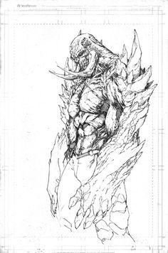 Doomsday by Brett Booth Comic Book Artists, Comic Artist, Comic Books Art, Fantasy Character Design, Character Drawing, Art Sketches, Art Drawings, Brett Booth, Art Du Croquis