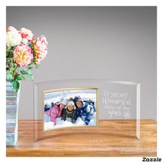 Shop The Most Wonderful tIme Glass Picture Frame created by jdsmarketing. Christmas Picture Frames, Glass Picture Frames, Wedding Picture Frames, Christmas Pictures, Wedding Pictures, Thoughtful Gifts For Her, Glass Photo, Personalized Wedding Gifts, Xmas Decorations