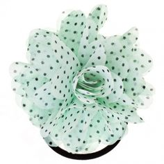Polka Dot Flower Hair Tie
