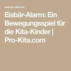 Eisbär-Alarm: Ein Bewegungsspiel für die Kita-Kinder   Pro-Kita.com