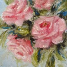 """Bouquet daily painting by Heidi Shedlock Floral Paintings, Painting Flowers, Pink And Green, Bouquet, Photos, Pictures, Cottage, Oil, Artwork"
