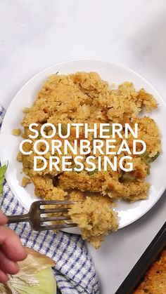 southern recipes This moist, delicious Southern Cornbread Dressing is a traditional stuffing recipe that makes the perfect Thanksgiving side dish! Southern Thanksgiving Recipes, Traditional Thanksgiving Recipes, Stuffing Recipes For Thanksgiving, Thanksgiving Side Dishes, Southern Recipes, Dressing For Thanksgiving, Italian Thanksgiving, Thanksgiving Stuffing, Southern Dishes