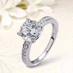 925 sterling ezüst eljegyzési gyűrű Cirkónia kövekkel EG-OL-E022