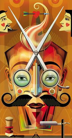 Kevin Hauff - Radio Times Christmas Edition: Barber of Seville - Illustration