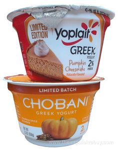 REVIEW: Chobani Limited Batch Pumpkin Spice Greek Yogurt and Yoplait Limited Edition Pumpkin Cheesecake Greek Yogurt | The Impulsive Buy