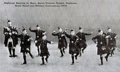 Highland Dancing by Boys, Queen Victoria School, Dunblane. Royal Naval and Military Tournament 1914.