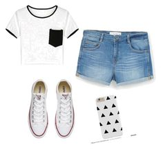 """""""Black&white outfit"""" by ellaschaeffer31 on Polyvore featuring beauty, MANGO and Converse"""
