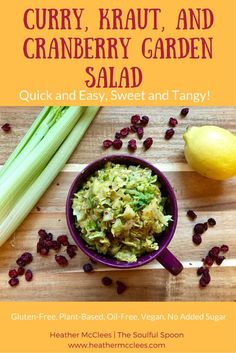 Curry, Kraut, and Cranberry Garden Salad - Quick and Easy, Sweet and ...