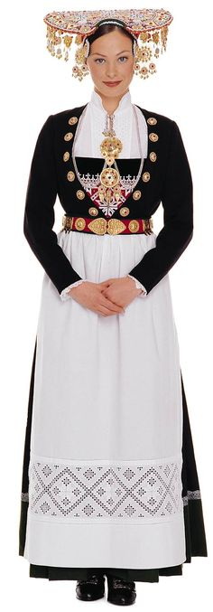 Traditional costume for the bride in Voss in Norway