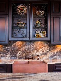 Iron scroll   Mediterranean Kitchen Cabinets Design, Pictures, Remodel, Decor and Ideas - page 2