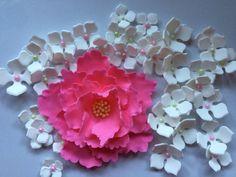 fondant flowers XL Pink Peony edible Fondant by InscribingLives