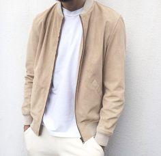 suede jacket with white tee I RLOFT's Recommendation I refinemenloft.co