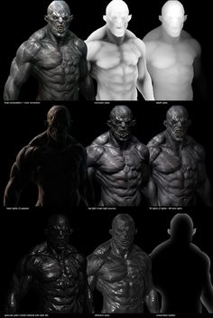 Raf Grassetti's zbrush render breakdown of ORC – ZBrush UGM http://grassetti.wordpress.com/2013/03/30/orc-zbrush-ugm/