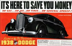 Switch to the Big Dependable 1938 Dodge