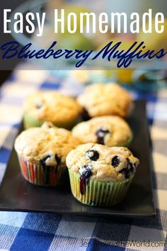 1 cups all-purpose flour cup granulated sugar plus 1 tablespoon for muffin tops teaspoon kosher salt 2 teaspoons baking powder cup vegetable oil 1 large egg – cup milk 1 teaspoons vanilla extract 6 to 8 ounces fresh or frozen blueberries Delicious Breakfast Recipes, Yummy Snacks, Yummy Food, Muffin Recipes, Cookie Recipes, Fat Free Recipes, Homemade Blueberry Muffins, Easy Homemade Recipes, Baking Muffins