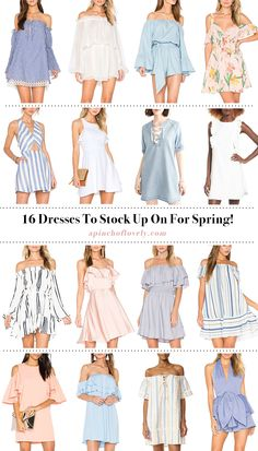 A Pinch of Lovely - 16 Spring Dress Styles Worth Swooning Over | Wednesday Wishlist | A Pinch of Lovely
