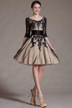 eDressit 2014 New Black Lace Decoration Cocktail Dress Party Dress (04143414)