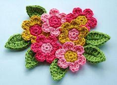 como hacer flores africanas en crochet - Buscar con Google