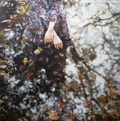 """Artist Zhongwen Yu; Painting, """"Some people,some dreams,some songs,some stories."""""""
