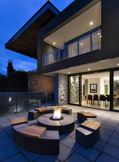 Social Series Fire Pit – Round The Effective Pictures We Offer You About House Architecture rustic A quality picture can Minimalist House Design, Minimalist Home, Modern House Design, Modern Houses, Simple House Design, Cool House Designs, Architecture Design, Contemporary Architecture, Modern Contemporary