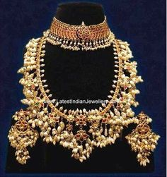 Ruby Lacha Gotta Pusalu gold Necklace