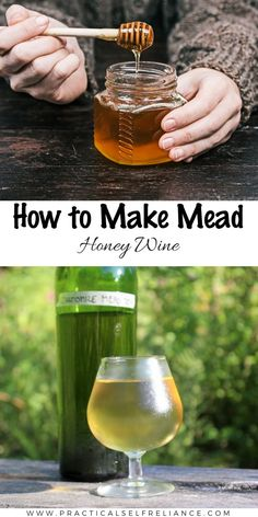 How to Make Mead (Honey Wine) Home Hub homebrewing wine Honey Mead wine Homemade Wine Recipes, Homemade Alcohol, Homemade Beer, Mead Wine Recipes, Drink Recipes, Alcohol Recipes, How To Make Mead, How To Make Wine, Honey Mead