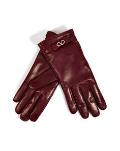Valentino Leather Gloves with Bow / Style Bop
